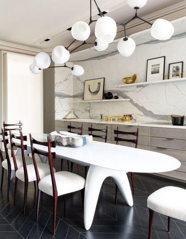 Une cuisine design au mobilier démesuré