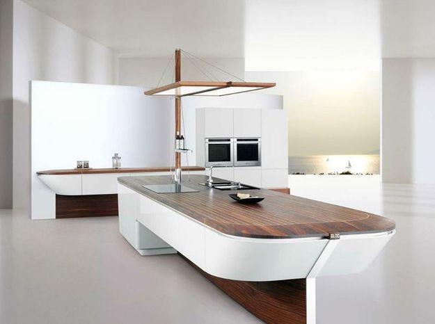 Une cuisine design comme un bateau