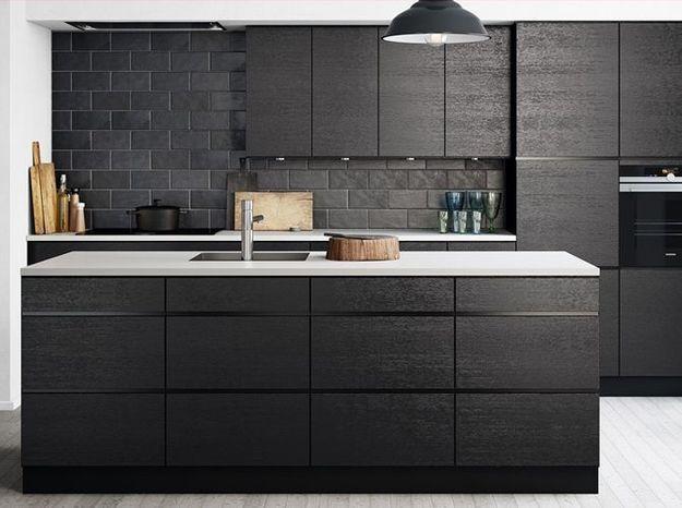 Une cuisine design noire
