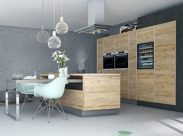 Une cuisine design sans poignée