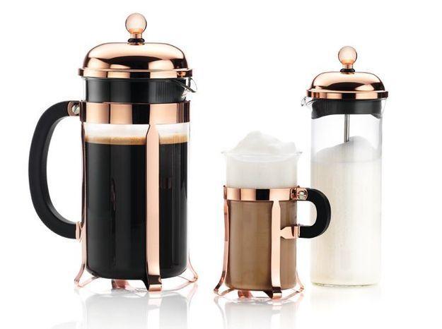L'objet déco du jour : le service à café cuivré Bodum