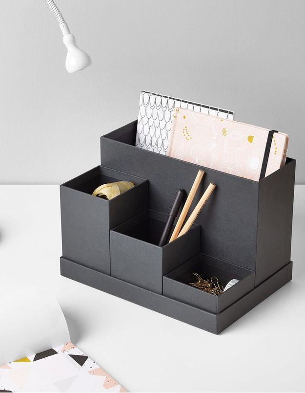 30 accessoires de bureau qui nous donneraient presque envie de travailler elle d coration. Black Bedroom Furniture Sets. Home Design Ideas