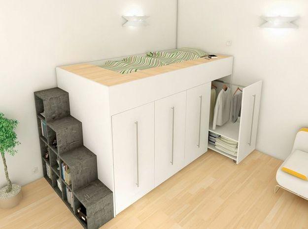 10 solutions pour am nager le dessous d un lit mezzanine elle d coration. Black Bedroom Furniture Sets. Home Design Ideas