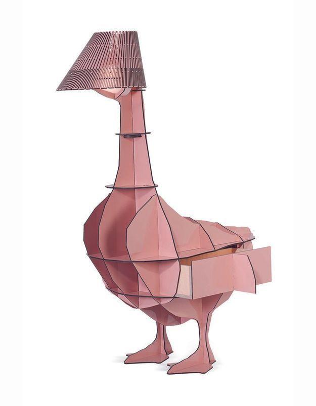 Table de chevet / lampe