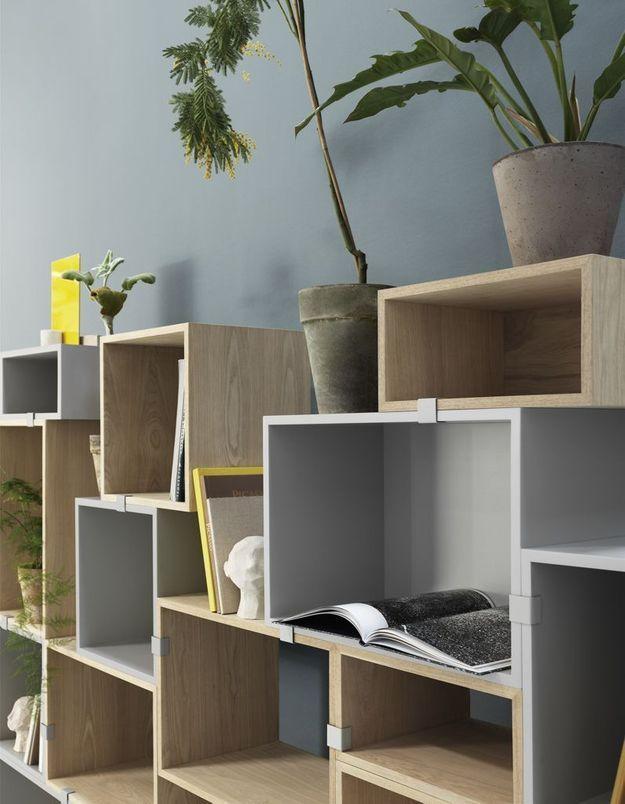 Des casiers muraux modulables qui s'assemblent selon les besoins