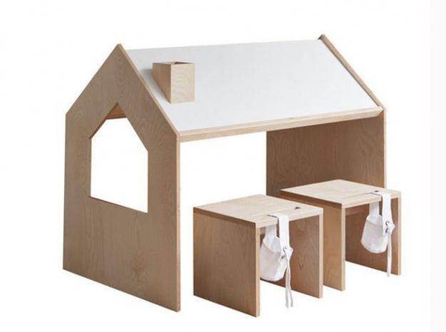 Un bureau pour enfants qui se transforme en cabane