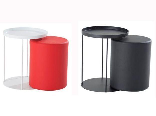 Une table basse qui cache et range un pouf