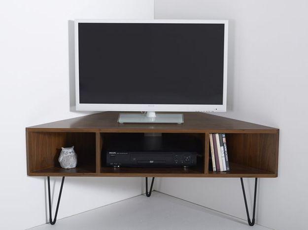 Des meubles d'angle pour ne perdre aucun mètre carré