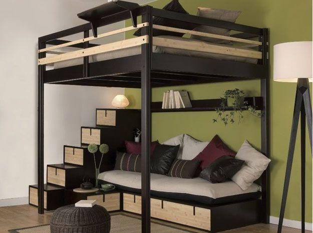 Un lit mezzanine pour se créer un espace nuit