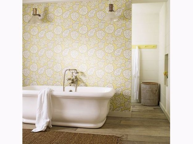 Salle de bains esprit maison de campagne