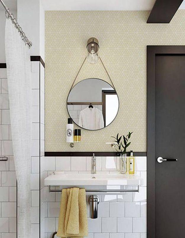 Adoptez les tendances (couleurs, motifs, petite déco....) jusque dans la salle de bains