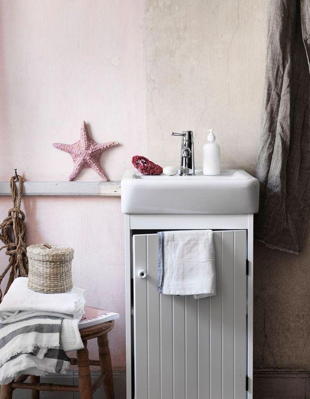Faites la part belle à la tendance des coquillages dans la salle de bains