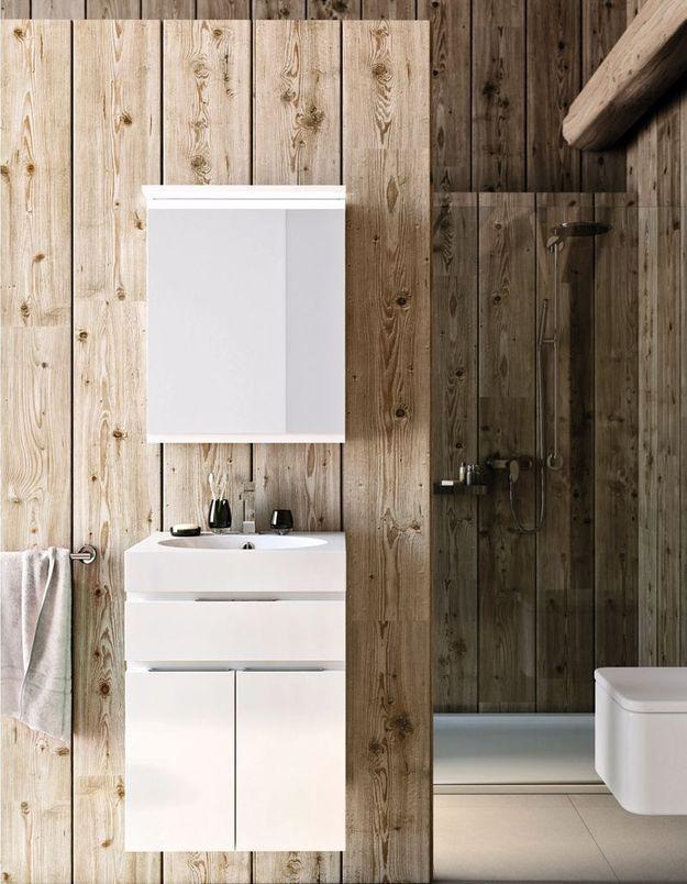 Réchauffez la salle de bains avec du bois