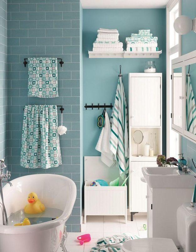 Salle de bains enfant nos inspirations pour une salle de bains sp ciale enfant elle d coration - Temperature salle de bain pour bebe ...