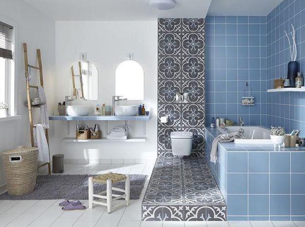 Les 5 bonnes idées de cette salle de bains - Elle Décoration