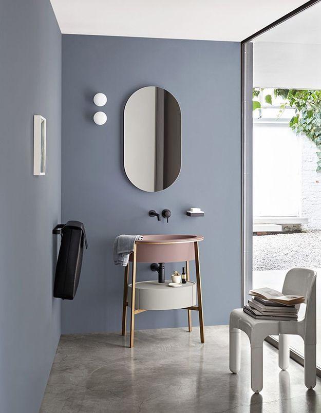 De la couleur dans la salle de bains via des touches pastel