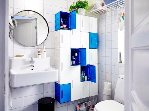 Armoire style casier pour la salle de bains