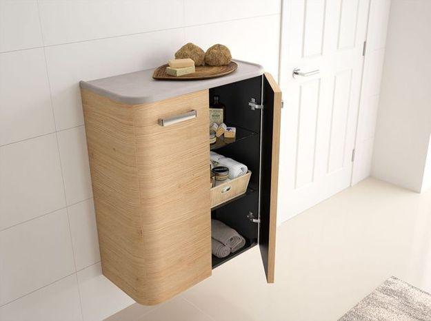 Demi-colonne organique pour la salle de bains