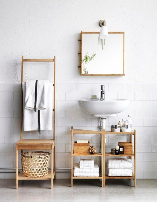 Rangement IKEA pour la salle de bains