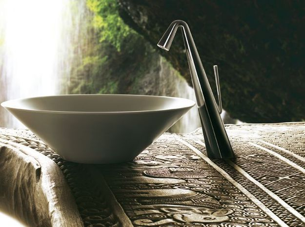 Mitigeur lavabo contemporain noir