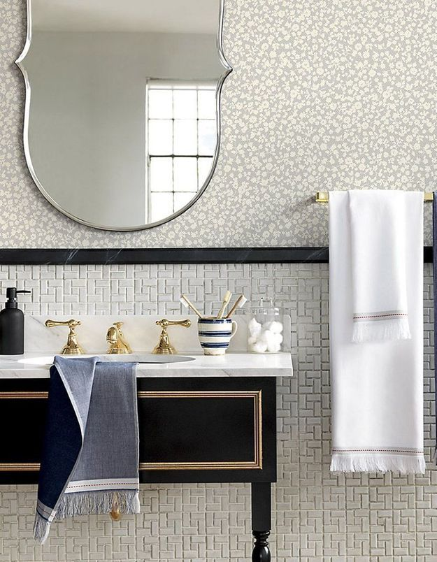Miroir de salle de bains biseauté
