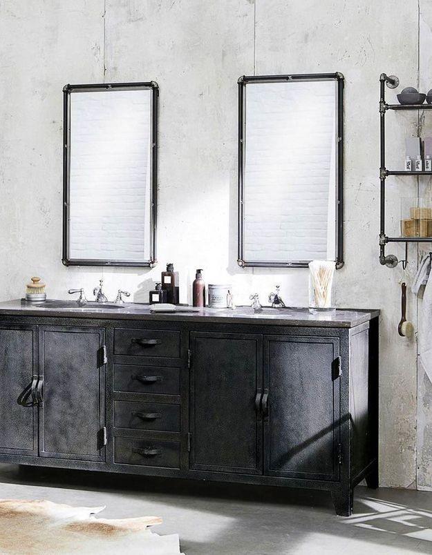 Miroir de salle de bains esprit factory