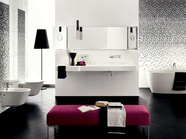 Salle de bain noir et blanc richardson