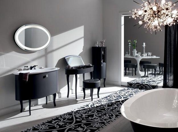 Salle de bain noir et blanc burgbad