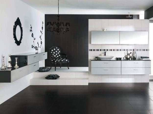 Salle de bain noir et blanc cuisines schmidt