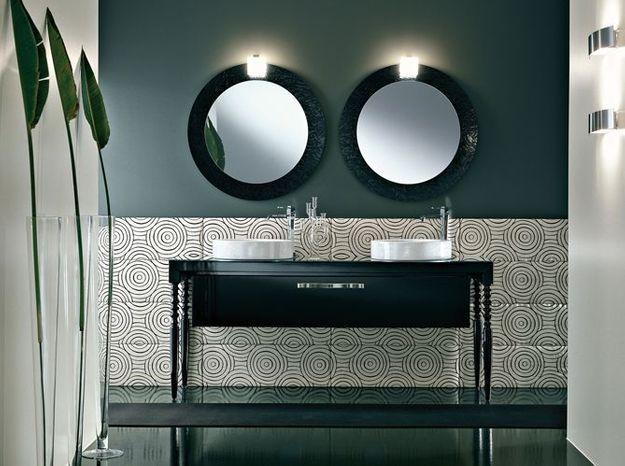 Salle de bain noir et blanc idea group