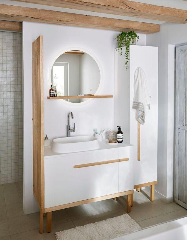 Une salle de bains Castorama qui s'intègre à l'espace