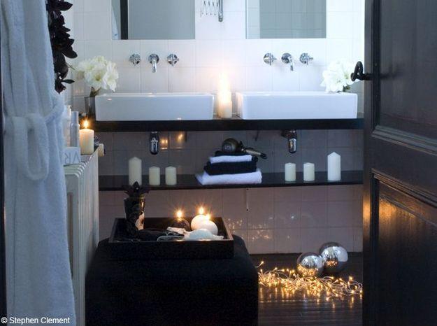 Salle de bains zen et tamisée