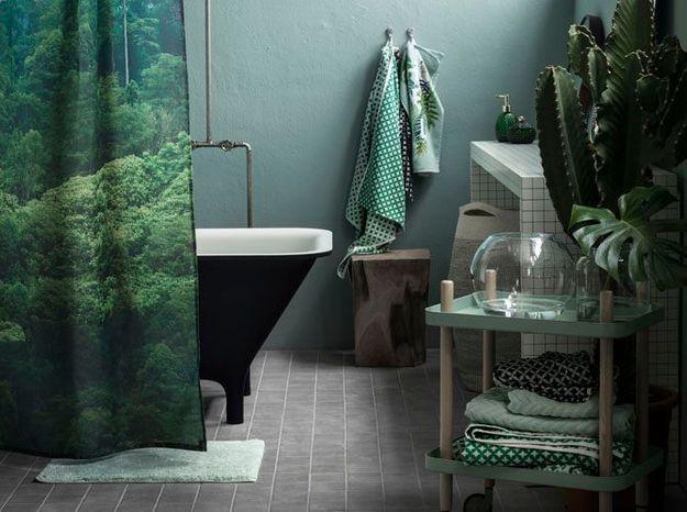 Salle de bains zen grâce à sa palette de verts
