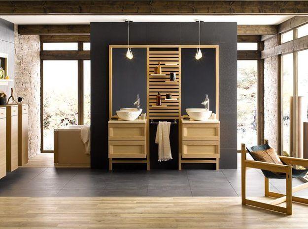 Salle de bains zen pour deux