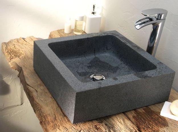 Salle de bains zen style rustique chic
