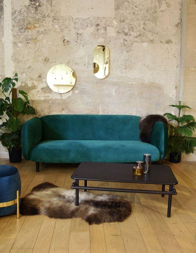 Canapé en velours ENOstudio