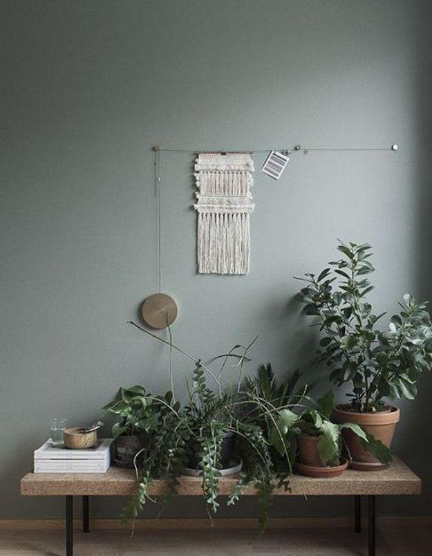 Un banc végétal pour changer des sempiternels pots dans ce salon