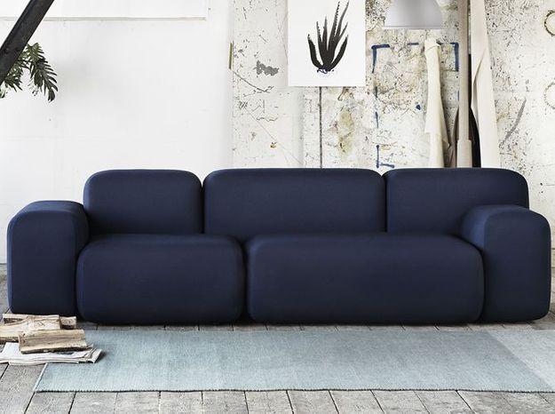 Un canapé design avec blocs asymétriques