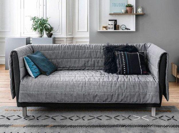 Un canapé design avec couette amovible