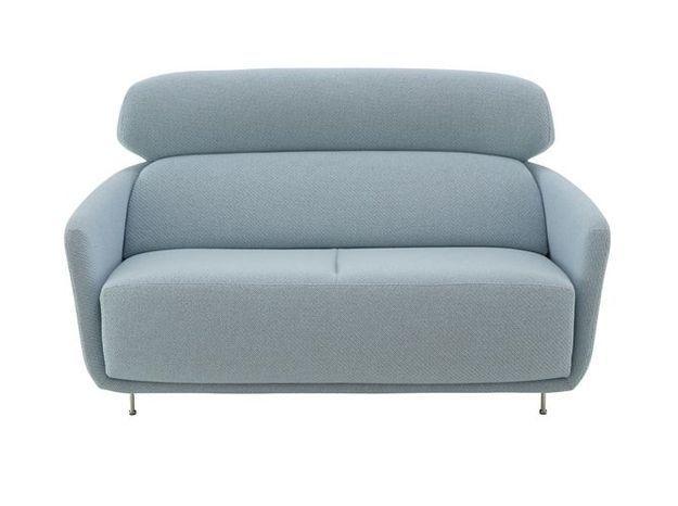 Un canapé design bleu ciel