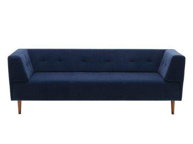 Un canapé design bleu