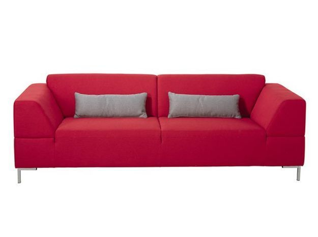 Un canapé design rouge