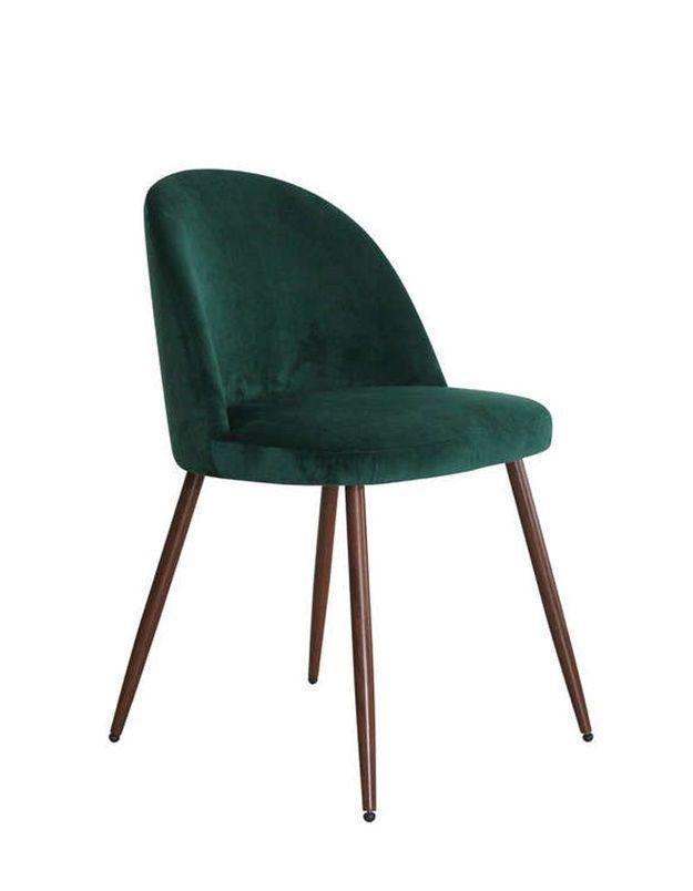 Chaise design pas chère en velours