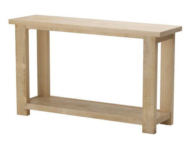 13. Console en bois
