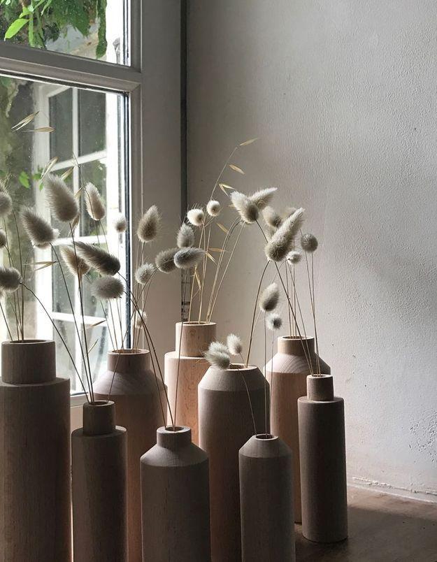 Un vase en bois pour une déco douillette