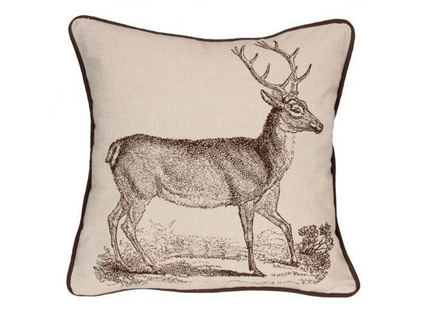 Coussin cerf cote table