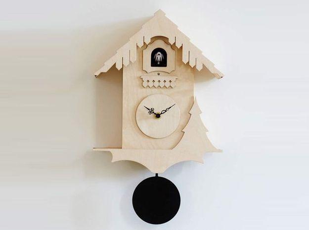 Horloge coucou chalet cerise sur la deco