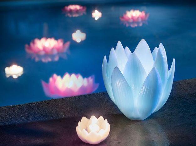 Des fleurs de lotus pour un éclairage délicat