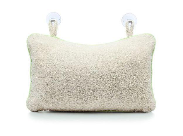 Un oreiller pour reposer sa nuque dans le bain