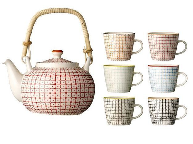 Un service à thé aux motifs japonisants apaisants